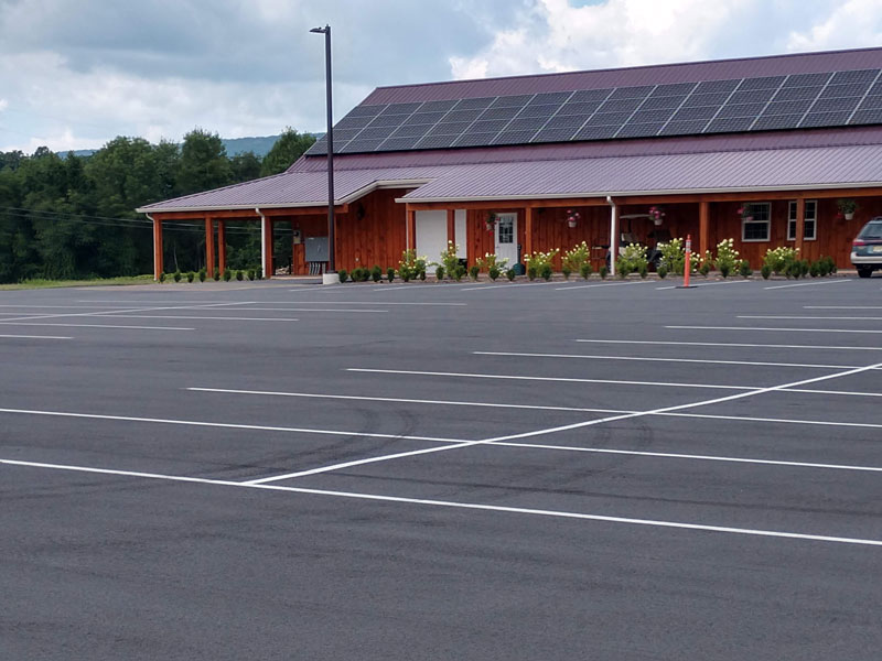Winery Parking Lot with Building